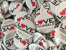 Love Yourself Project Pins